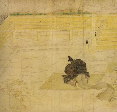 Ban_Dainagon_Ekotoba_-_Minamoto_no_Makoto_praying